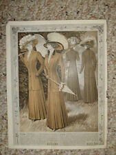 ANTIQUE VICTORIAN WOMENS FASHION PRINT LINGERIE Rare NR