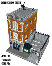 Lego Custom Modular Building - Consulate - INSTRUCTIONS ONLY!! 10224 Alternative