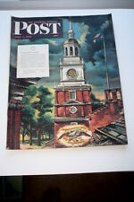 1945 JUNE 2ND THE SATURDAY EVENING POST MAGAZINE WWII, INDEPENDANCE HALL COVER
