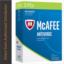 Intel McAfee AntiVirus Plus 2017, 3 PCs - 1 Year License deliery in eBay Message