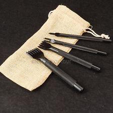 Leathercraft Quality Diamond Leather Stitching Chisel 4mm Sets 1+2+4+6 Prong