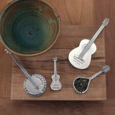 Americana Measuring Spoons- Stringed Instruments- Musical Strings- Guitar, Banjo