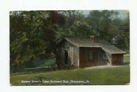 Postcard  General Grant's Cabin Fairmount Park Philadelphia PA 1908 Divided back