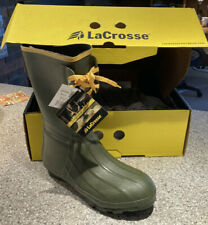 Lacrosse Insulated Pac Green Rubber 12in Mens Hunting Boots 10 Medium