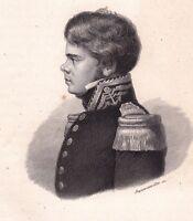 Portrait Jules Poret de Blosseville Rouen Seine Maritime La Coquille 1836 Marine
