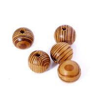 50PC 22MM Loose Round Spacer Pine Wood Beads Ball Fit DIY Jewelry Making