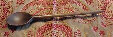 Cuillère en bois Art populaire Auvergne crochet monoxyle L 39 cm