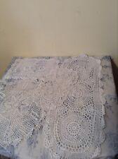 Vintage French Crochet Lace Doilies Centre Piece Wedding Table Decoration (2305a