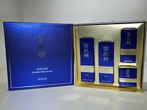 New! Kose Sekkisei Excellent Skin Care Set Lotion Emulsion Cream Recovery Japan