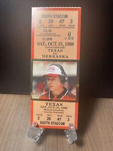 Texas Longhorns vs Nebraska Cornhuskers Ticket Unused Vintage October 31 1998