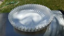 "Fenton SILVER CREST Milk Glass 10½"" SHALLOW FOOTED ROUND BOWL"