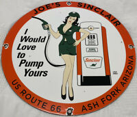 VINTAGE SINCLAIR GASOLINE PORCELAIN SIGN, GAS STATION, PUMP PLATE, MOTOR OIL