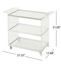 Yves Bar Trolley with Glass Shelves