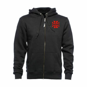 WCC Red OG Classic Fashionable Casual Wear Full Zip Hoodie Black