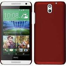 Hardcase HTC Desire 610 rubberized red Cover + protective foils