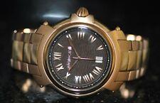 Mens Roberto Cavalli By Franck Muller Swiss Brown Dial Rosetone Steel Watch RARE