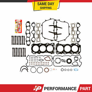Full Gasket Set Head Bolts for 03-04 Nissan 350Z Infiniti G35 FX35 3.5L VQ35DE