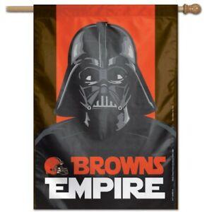 "CLEVELAND BROWNS EMPIRE DARTH VADER FLAG BANNER 28""X40"" STAR WARS DISNEY NFL"