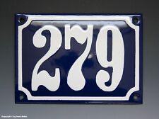 Emaux, E-Mail-numéro de maison 279 in bleu/blanc pour 1960