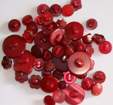 Shank Buttons - 50 New Burgundy Shanks - Craft Scrapbooking Sewing Patchwork