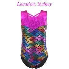 AU Warehouse Kid Gymnastic Leotard Sleeveless Ballet Outfit Dancewear Activewear