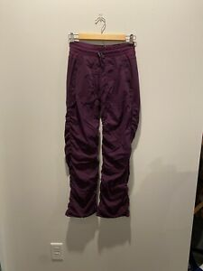 LULULEMON IVIVVA Girls Pant 12 Live To Move Lined Luon Swift Stretch Purple