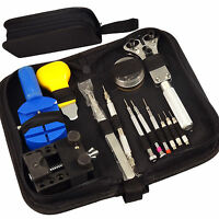 Tool Kit Watch Repair Case Opener Link Remover Spring Bar Tool + Carrying Case