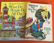 Richard Scarrys Best Story Book Ever & What Do Poeple Do All Day Vintage Books 2