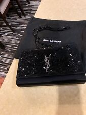 Saint Laurent Monogram Kate Medium Sequined Satin Shoulder Bag 27aab568f9967