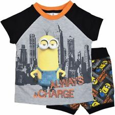 NEW DESPICABLE ME MINIONS ALWAYS IN CHARGE BOYS PYJAMAS SET SIZE 2,3,4,5,6,7