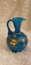 Beautiful cobalt blue Limoges bud vase from around the 1950's.  The vase is...