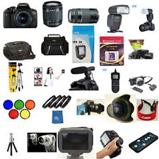 Canon EOS T6I 18-55mm STM 75-300mm YN 600EX RT 5 Years Warranty 62 Piece Pro KIT