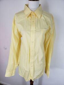 Tommy Hilfiger Mens 16 1/2 34/35 Yellow Dress Shirt Regular Fit Front Pocket