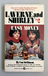 SCARCE TV tie-in pb LAVERNE AND SHIRLEY #2: EASY MONEY (Warner #88-295 1st 1976)