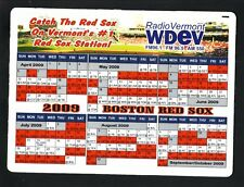 2009 Boston Red Sox Magnet Schedule