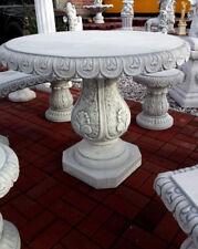 Garten & Terrassentisch, 80 cm Steinguss, Gartenfiguren, Steintisch, Gartendeko