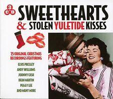 SWEETHEARTS & STOLEN YULETIDE KISSES - 3 CD BOX SET, ELVIS, PEGGY LEE & MORE