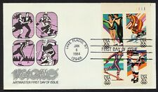 #2070a 20c 84 Winter Olympics-Plate Block, Artmaster FDC **ANY 4=FREE SHIPPING**