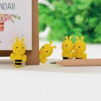 4 PCS /Set Bee Rubber Eraser Cute Animal Design Pencil Office Stationery St Good