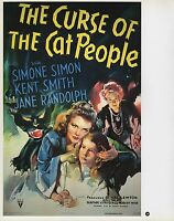 "2003 Vintage Horror ""THE CURSE OF THE CAT PEOPLE "" MINI POSTER   Art  Lithograph"