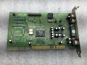 ISA Analog Devices AD1816 FX-3D Plus Sound Card w/ Wave Table & CD-Rom Audio