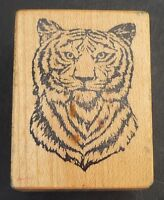 """PSX TIGER PORTRAIT Cat Animal D-516 Wood Mounted Rubber Stamp 2"""""""
