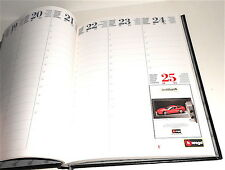 BURAGO 1998 italy promo diary organiser loose - diario agenda usata models cars