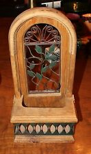 New listing Wc-012 Vintage Wood and Iron Wall Hanger Planter/Candle Holder