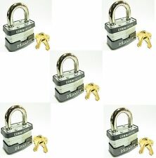 Lock Set by Master 3KA (Lot 5) KEYED ALIKE Commercial Steel Laminated Padlocks
