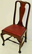 Period Antique 18th C. Walnut Queen Anne MA Dining Chair c.1750 w/ repairs As Is