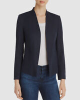 New $180 LE Gali Womens Blue Open Front Long Sleeve Career Work Blazer Size L