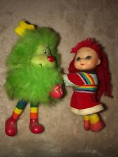 Rainbow Bright Red Hair With Green Sprite Hugger Clip On Clinger