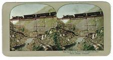 Colorado Railroad Stereoview - Great Loop Georgetown & Silver Plume