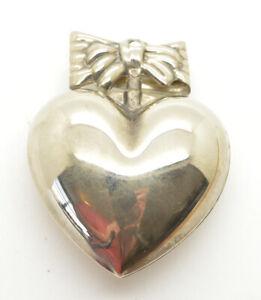 Metal 3D Heart Ornament Puffy Heart Pendant Large